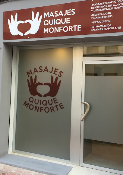 imagen de masajista Masajes Quique Monforte
