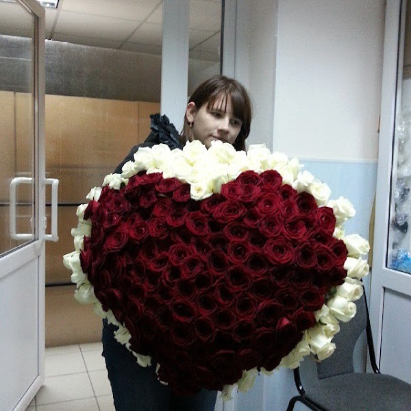 Сердце, доставка цветов в городе сызрань