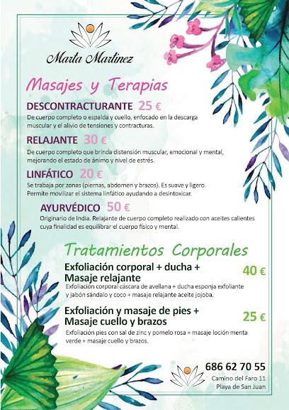 imagen de masajista Marta Martínez Masajes y Terapias