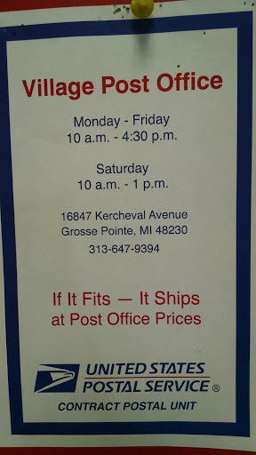 Post Office «US Post Office», reviews and photos, 16847 Kercheval Ave, Grosse Pointe, MI 48230, USA