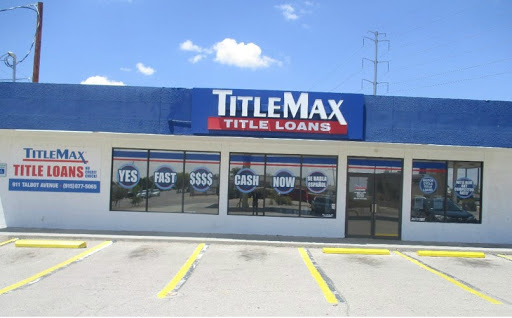 TitleMax Title Loans, 911 Talbot Ave, Canutillo, TX 79835, Loan Agency
