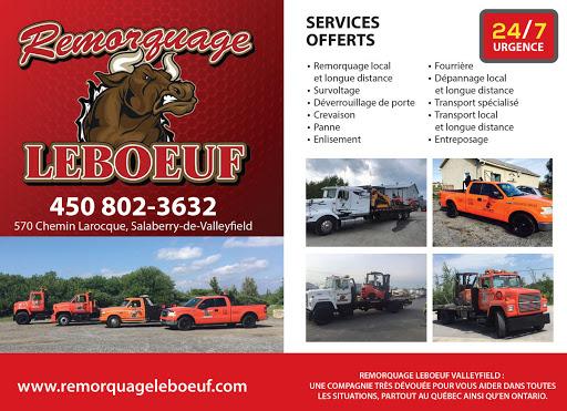 Service de remorquage Remorquage Leboeuf - Service de remorquage à Valleyfield à Salaberry-de-Valleyfield (QC) | AutoDir