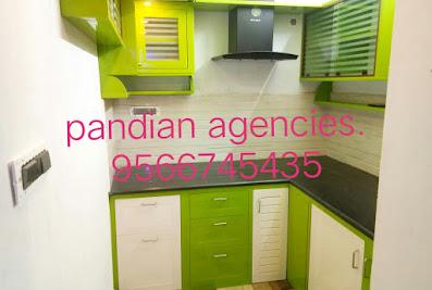 Pandian Agencies Madurai (Interior Works/Modular Kitchen/Cupboard Works/PVC Doors/Aluminium Works)Madurai