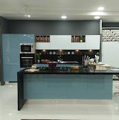 Sleek kitchen by Asian paintsTirunelveli