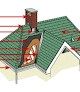 Hines Roofing Seamless Gutters logo