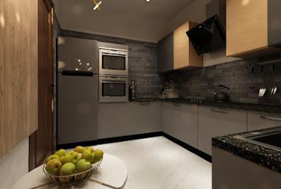 Inovik modular kitchen and wardrobes Hafele appliances,lights ,accessories, blumAmbala
