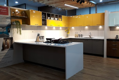 Sleek Kitchen World Vijayawada – Hi Blue InteriorsAmaravati