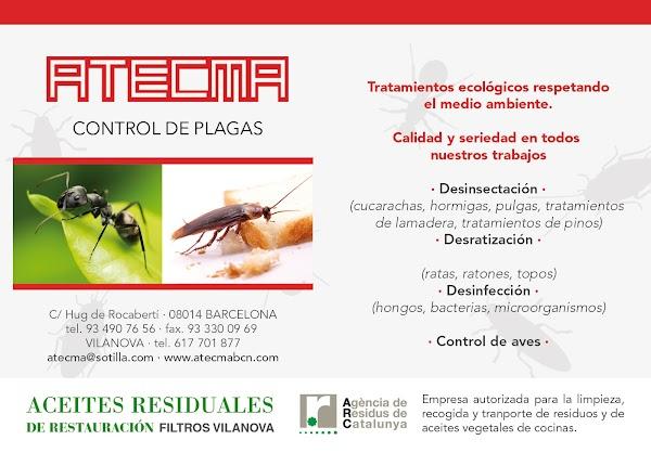 ATECMA, Control de Plagas