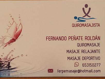 imagen de masajista Quiromasajista Fernando Peñate
