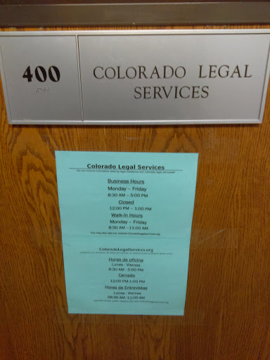 Colorado Legal Services, 1905 Sherman St # 400, Denver, CO 80203, Attorney