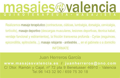 imagen de masajista Masajes Valencia