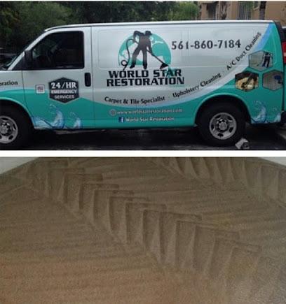 Upholstery cleaning service WORLD STAR RESTORATION, LLC