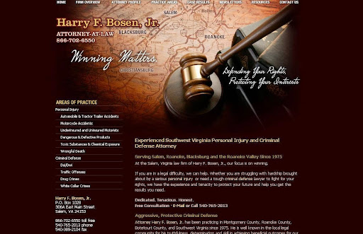 Harry F Bosen Jr Law Offices, 306 E Main St, Salem, VA 24153, Law Firm