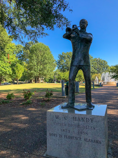 """Historical landmark W. C. Handy Statue """"Father of the Blues"""""""