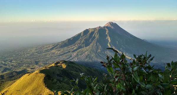 """So which of the favors of your Lord would you deny?"" (Qur'an surah Ar-Rahman). Location : Mount Merapi from Kenteng Songo Peak, Merbabu"