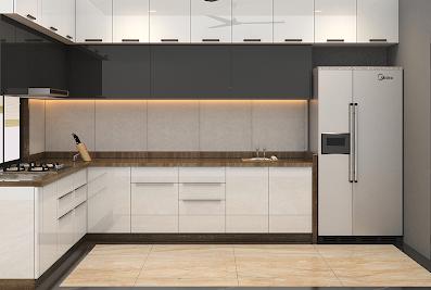 Sleek kitchen studio Ramdev Kitchens And InteriorJodhpur