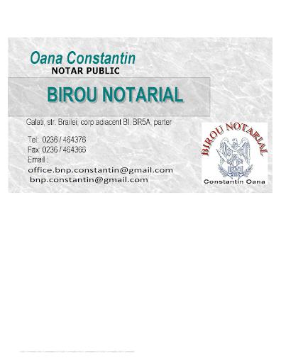 BIROU NOTARIAL CONSTANTIN OANA
