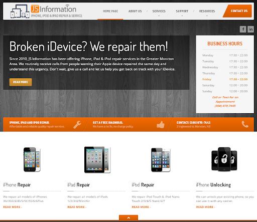 Réparation électronique JS Information - Cell Phone & MacBook Repair Moncton à Moncton (NB) | LiveWay