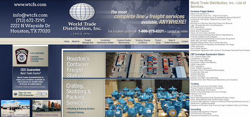 World Trade Distribution, Inc, 2222 N Wayside Dr, Houston, TX 77020, Freight Forwarding Service