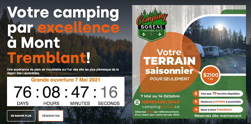 Camping Camping Boreal à Mont-Tremblant (Quebec) | CanaGuide
