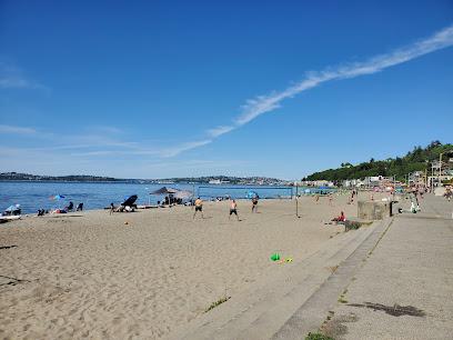 Alki Beach Park in Seattle WA