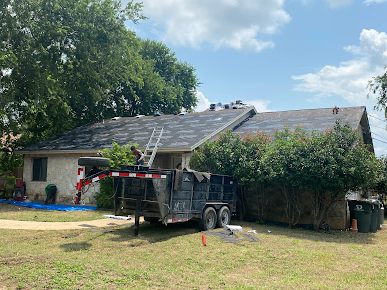 residential asphalt tear off and new roof install