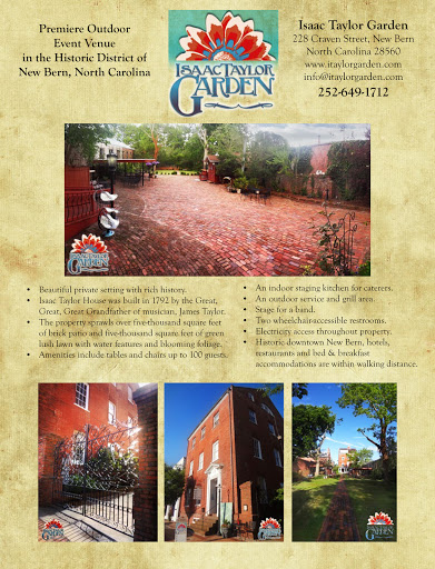 Wedding Venue «Isaac Taylor Garden Event Venue in New Bern», reviews and photos, 228 Craven St, New Bern, NC 28560, USA