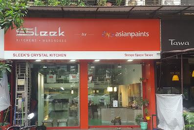 SLEEKS CRYSTAL KITCHEN, NAVI MUMBAI : MODULAR KITCHEN FURNITURENavi Mumbai