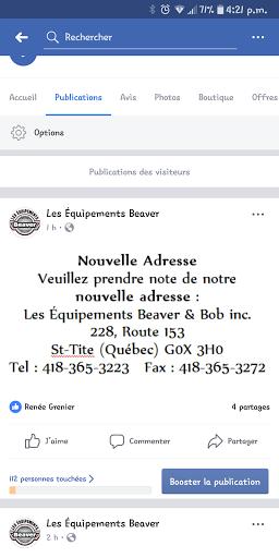Auto Repair Les équipements Beaver et Bob Inc in Saint-Tite (QC) | AutoDir