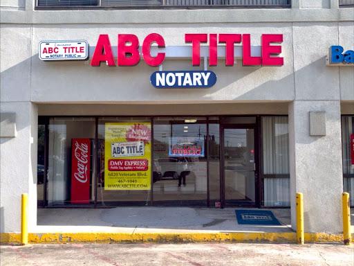 ABC Title of Metairie, 6820 Veterans Memorial Blvd C, Metairie, LA 70003, Department of Motor Vehicles