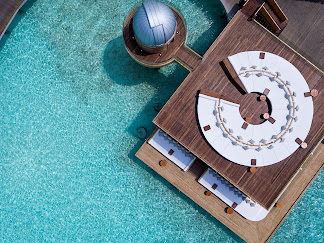 Anantara Kihavah Villas in the Maldives, aerial view