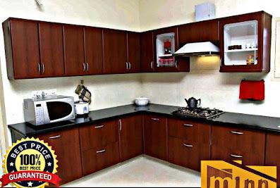 PVC/ALUMINIUM MODULAR KITCHEN-Minn InteriorsCoimbatore