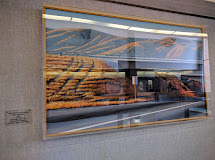 student services center inside with large painting
