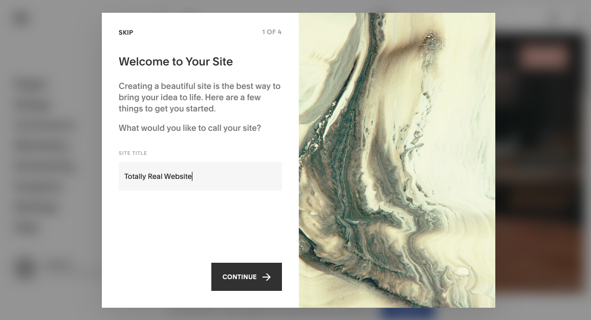 How to make a Squarespace website screenshot
