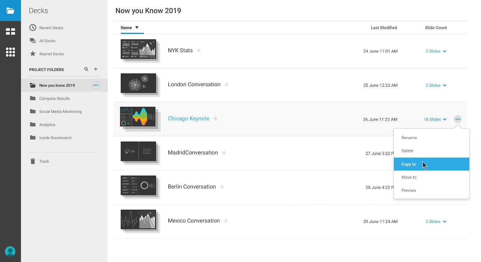 a screenshot of brandwatch, a social media monitoring tool