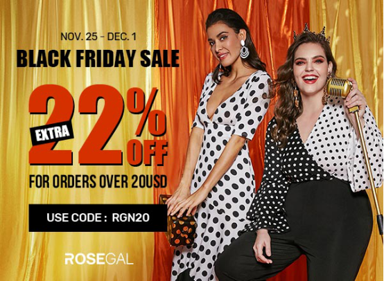 Best Black Friday Sale With Rosegal