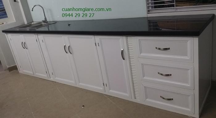 Tủ bếp nhôm kính tphcm 1