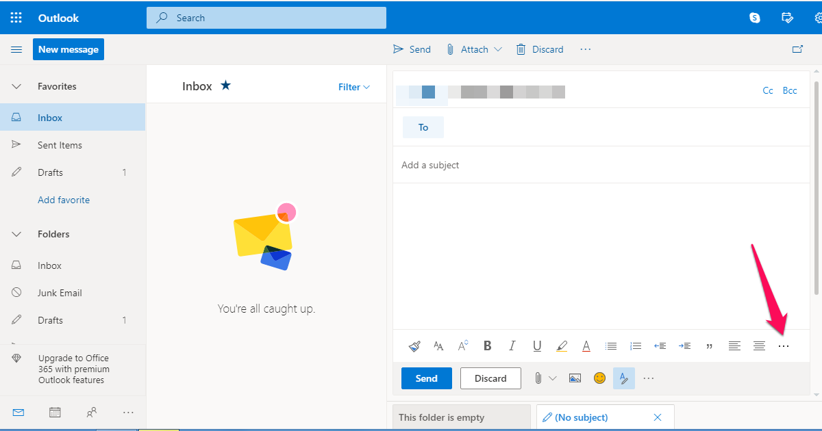Sending a video link in Outlook emails.