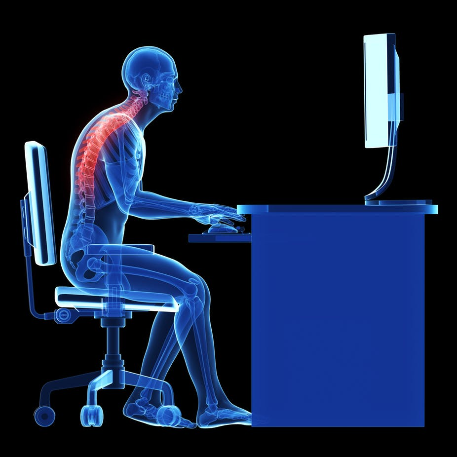 Bad posture can cause back pain