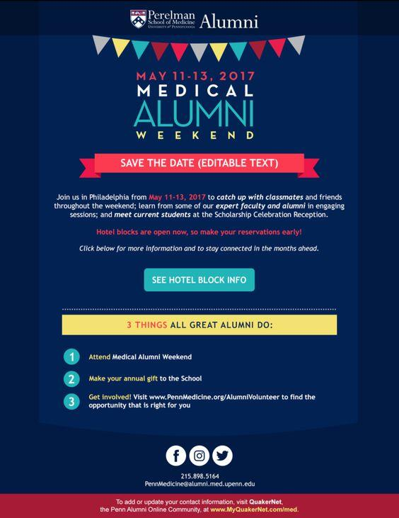 Alumni email from the University of Pennsylvania
