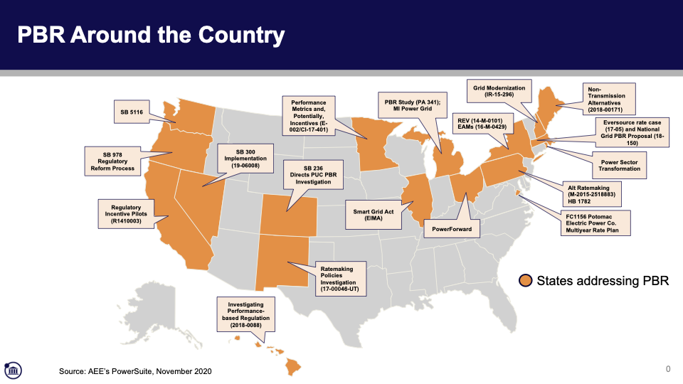 Map of PBR Around the United States