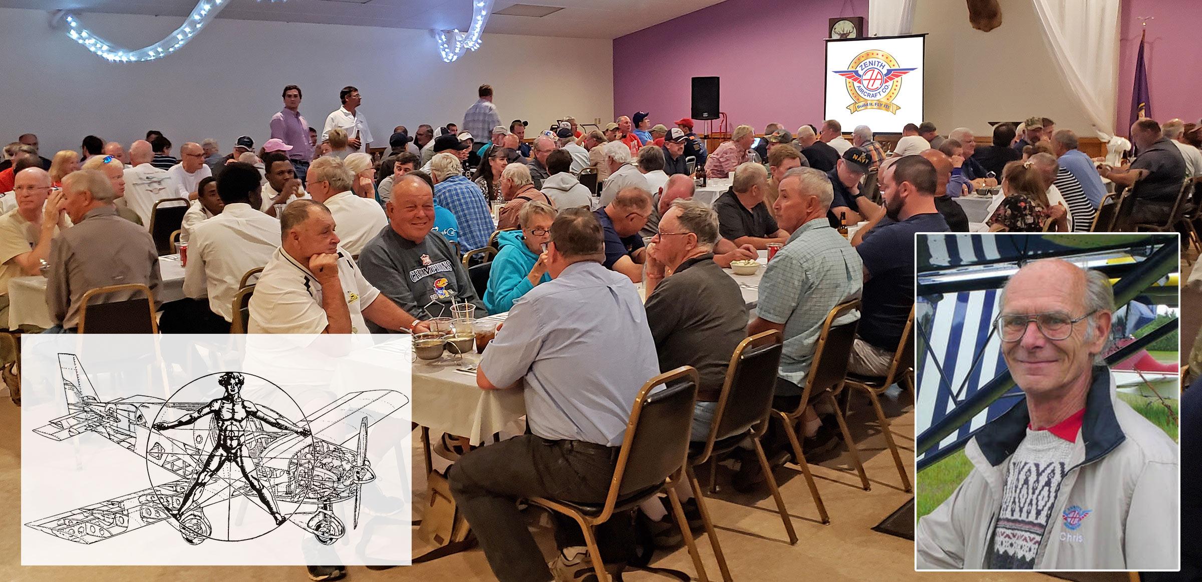 Zenair banquet at the Oshkosh Elks Lodge: https://bit.ly/zenith-banquet-osh21