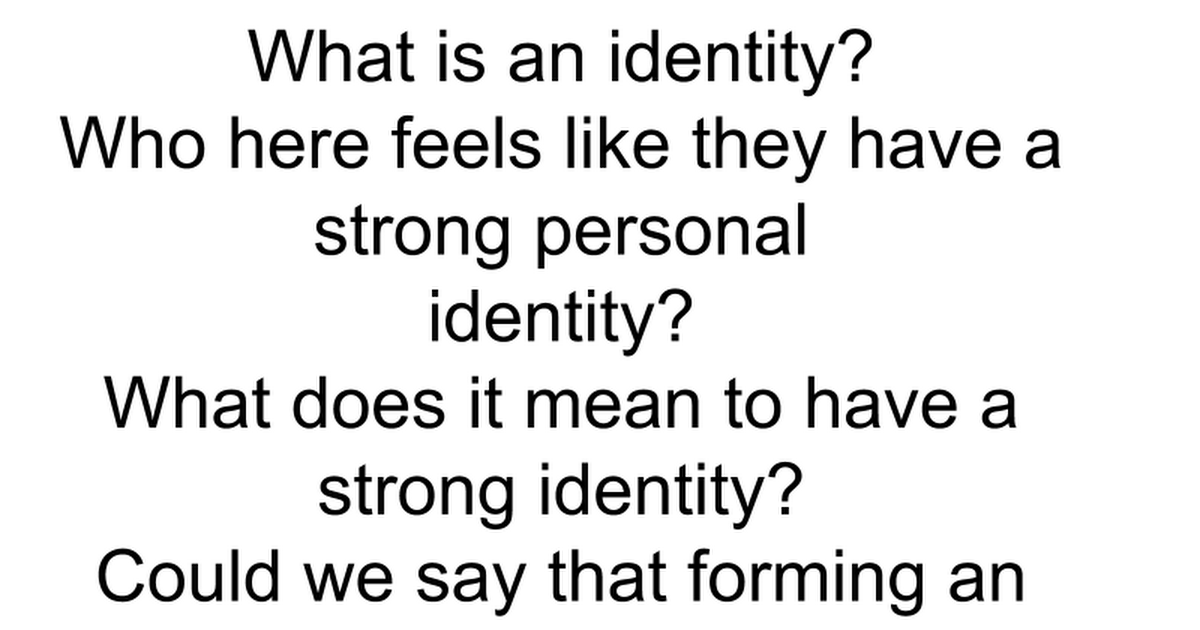 what is identity essay