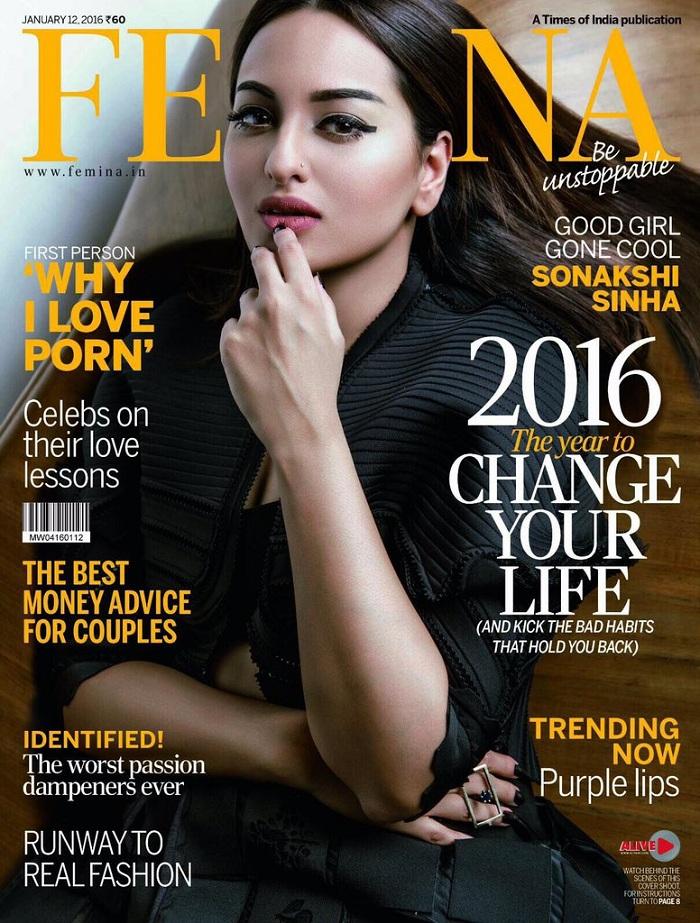 Sonakshi Sinha on Femina Magazine January 2016