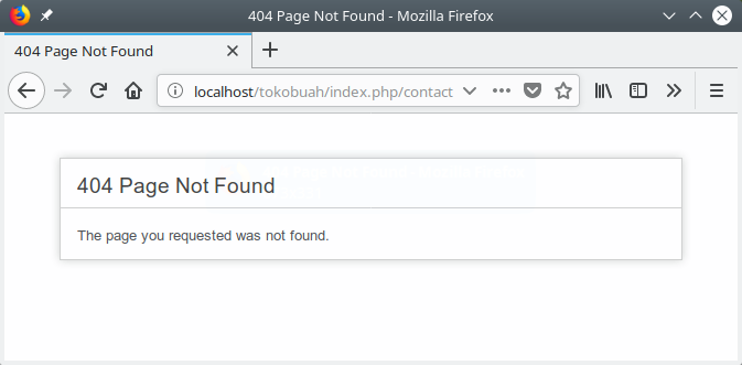404 Route not found
