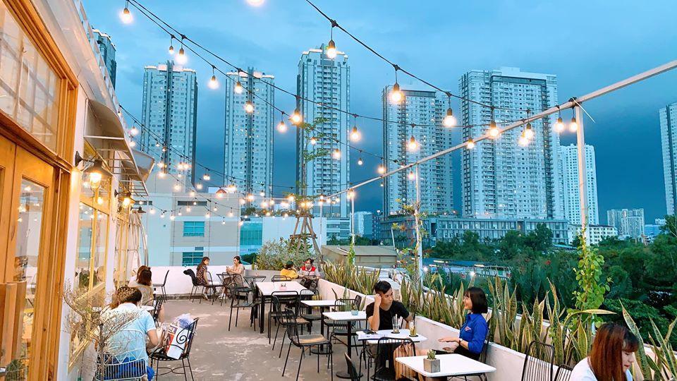 Sơn hiệu ứng Waldo-Không gian quán Nắng Rooftop Coffee