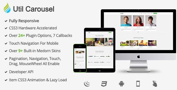 Download Free UtilCarousel Responsive jQuery Carousel Plugin - Download  Free Themes