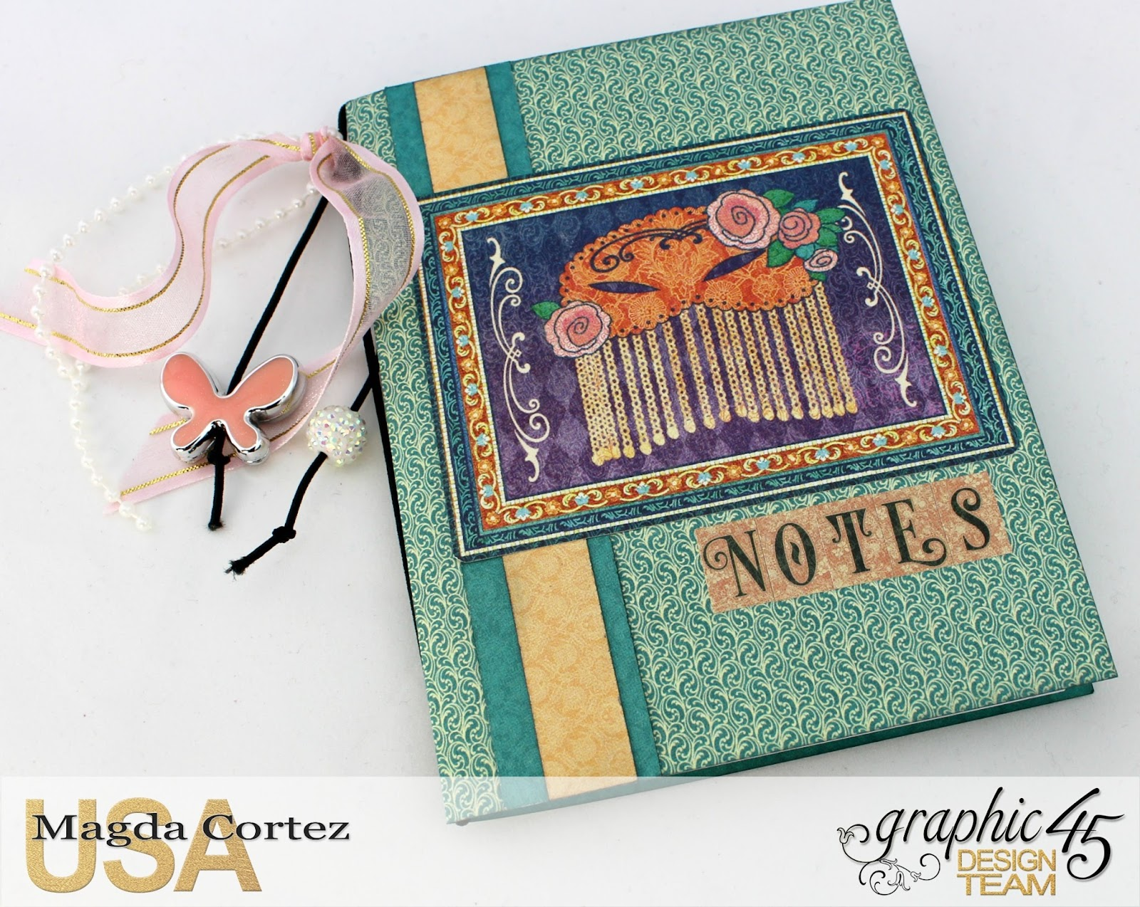 60 Second Tutorial Mini Notebooks, Midnight Masquerade, By Magda Cortez, Product by Graphic 45, Photo 04 of 07, with Tutorial.jpg