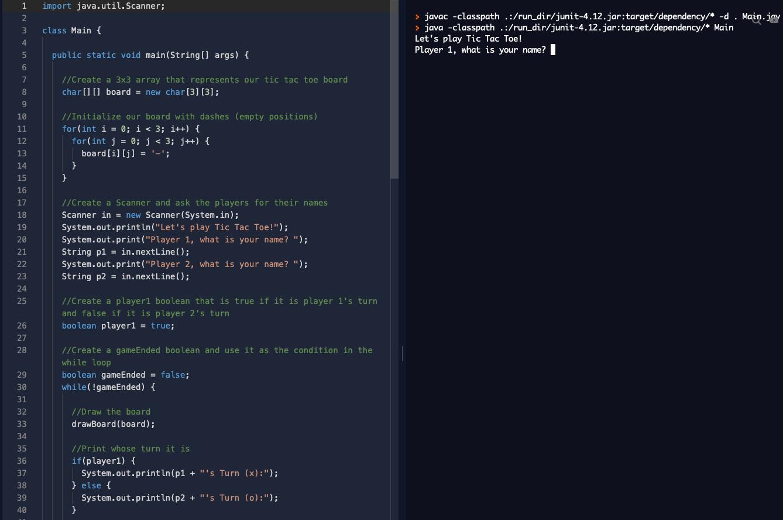 lines of code in Java