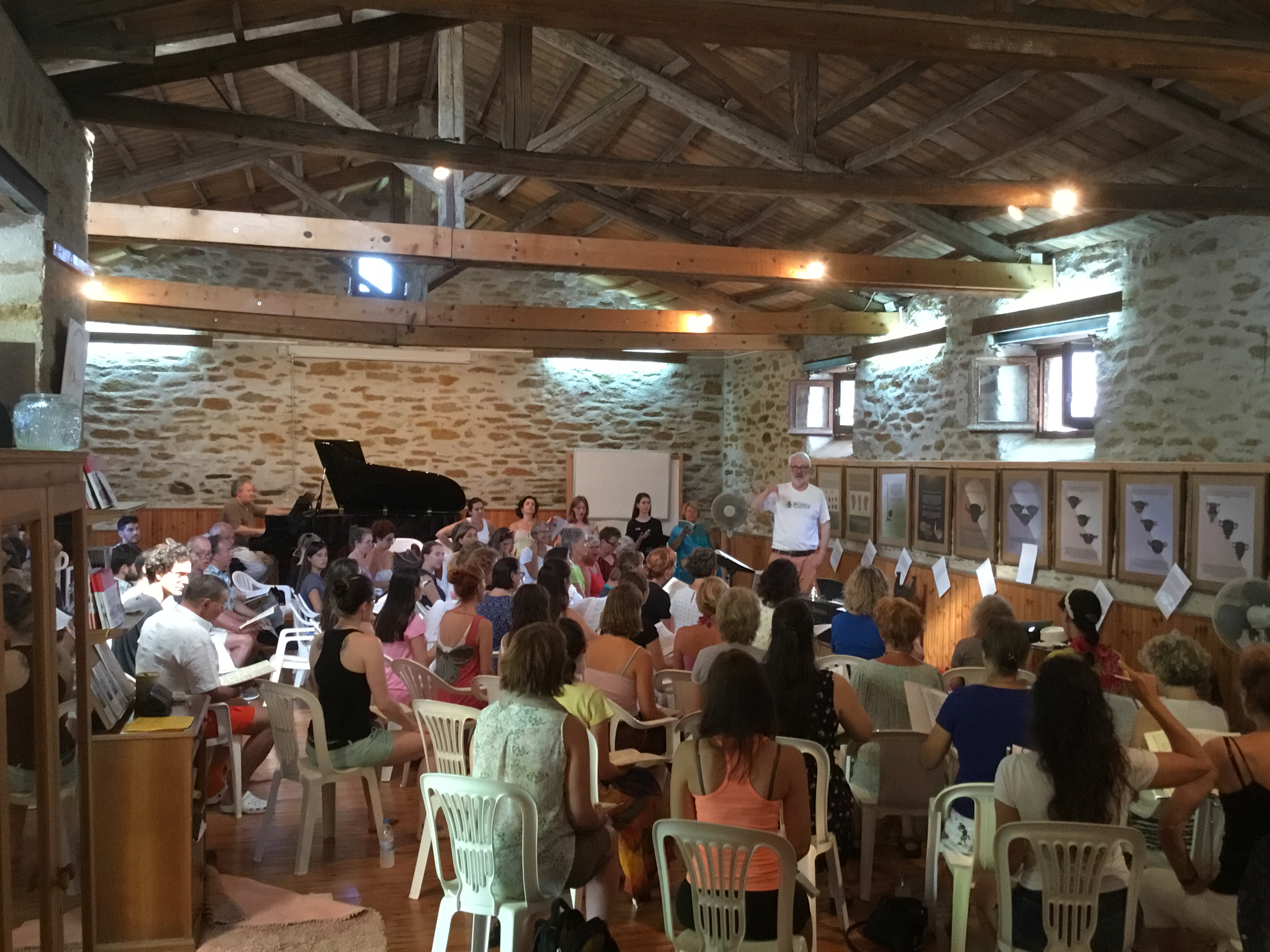 Rehearsing Brahms Requiem in Horto 2017 with Timothy Brown